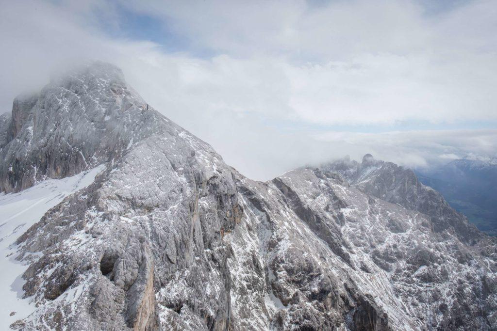 View of the Dachstein ridge where we got stuck