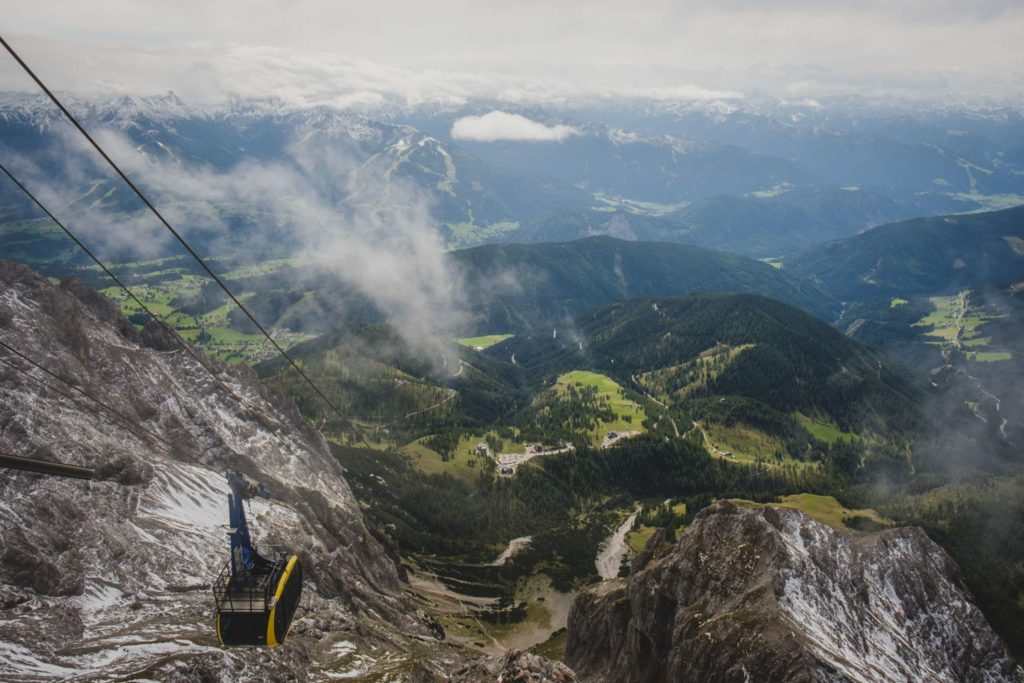 View from the top cable car station of Dachstein