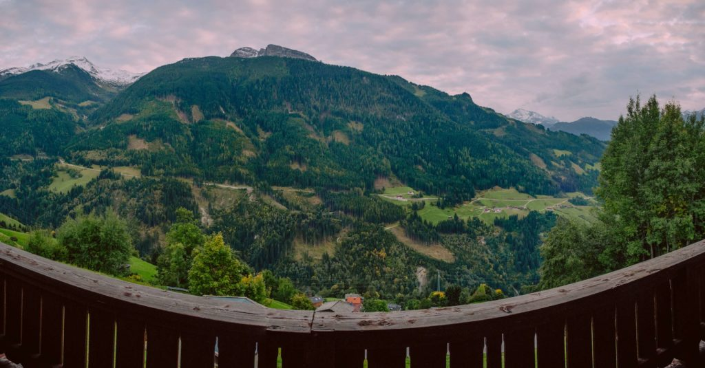 Gerlosberg apartment sunset panorama