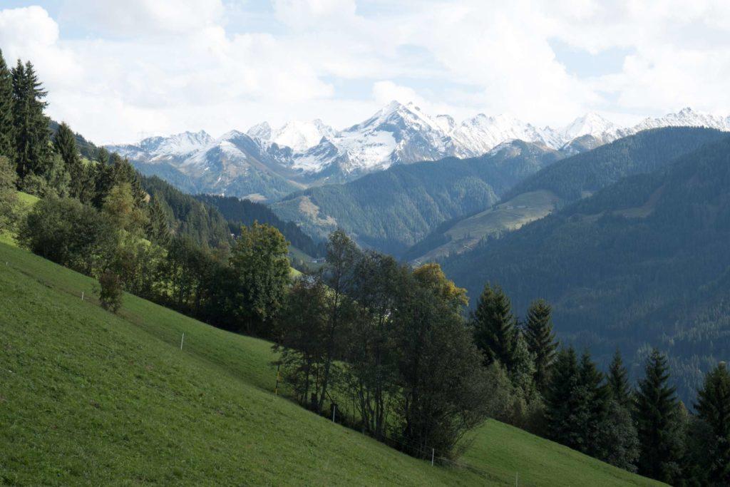 Gerlosberg mountain views from apartment windows