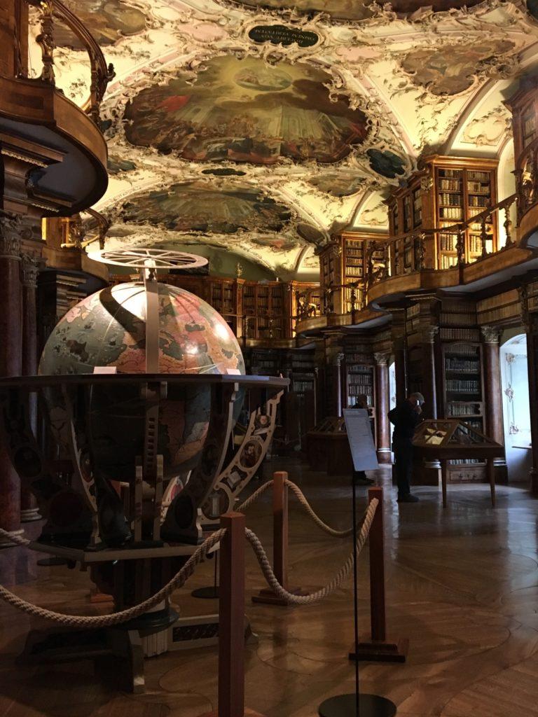 Globe at abbey library St. Gallen