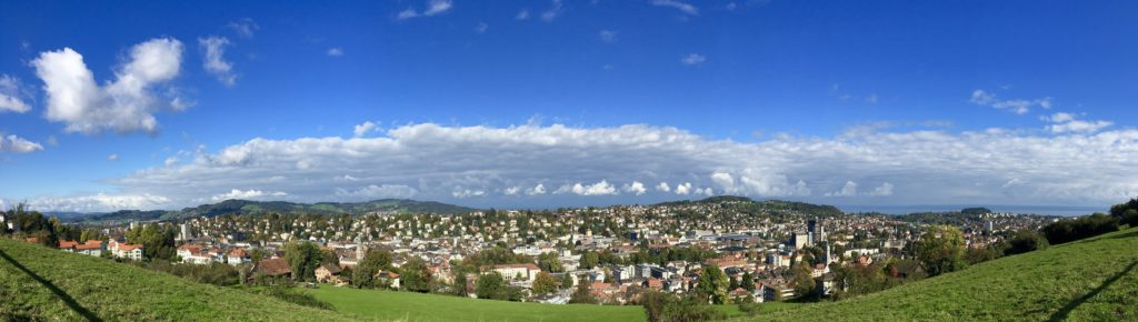 Panoramic view over St. Gallen