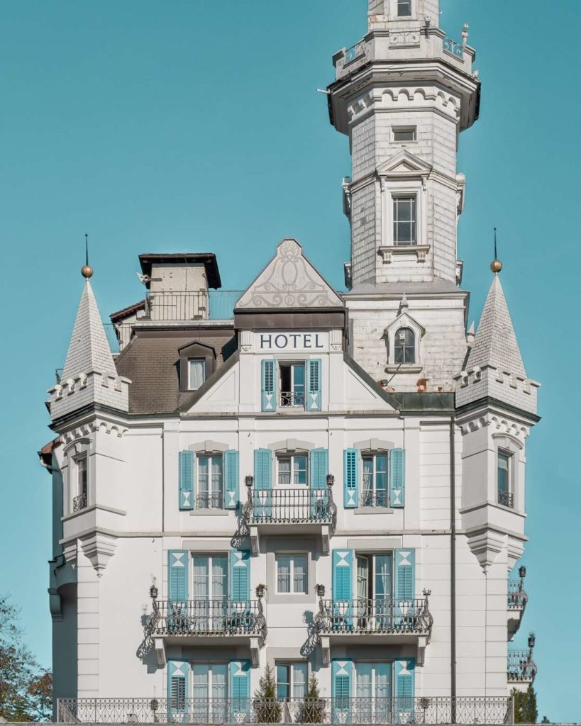 Chateau Gütsch castle hotel in Lucerne