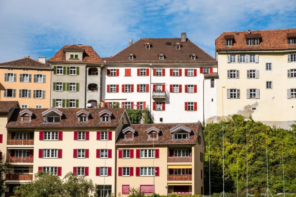 Buildings in Chur stacked like lego blocks