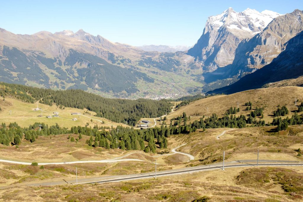 The view of Grindelwald from Kleine Scheidegg