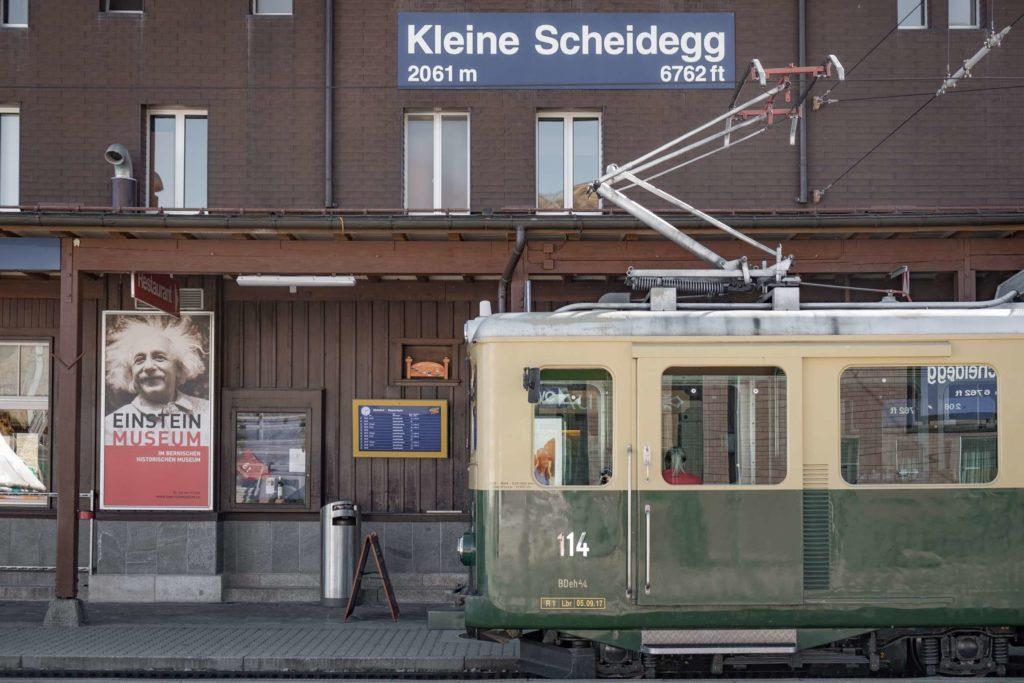 Kleine Scheidegg train station at 2061 metres high