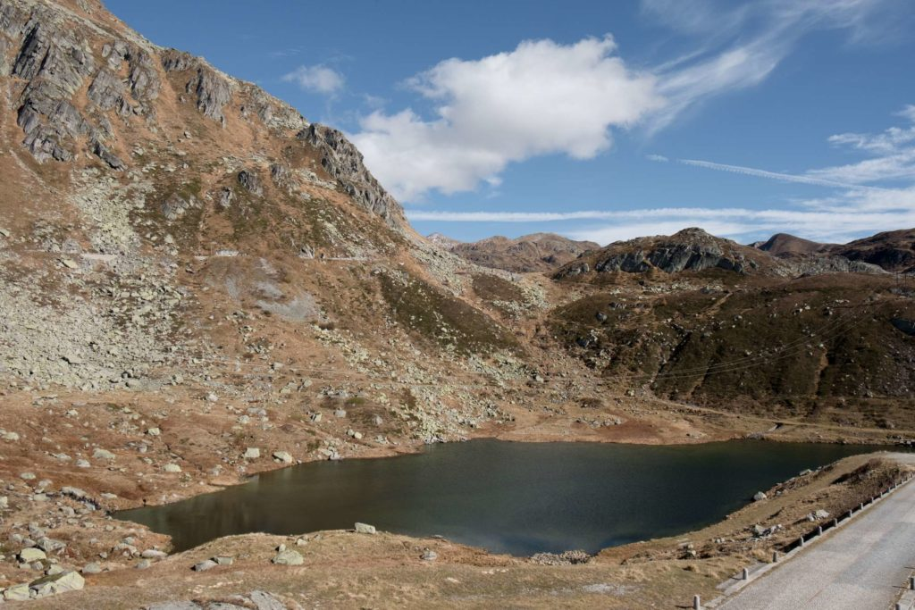 Lake on Gotthard Pass