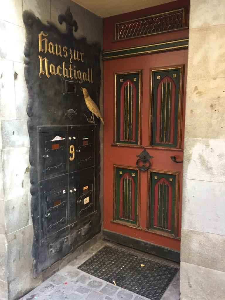 A medieval door in St. Gallen