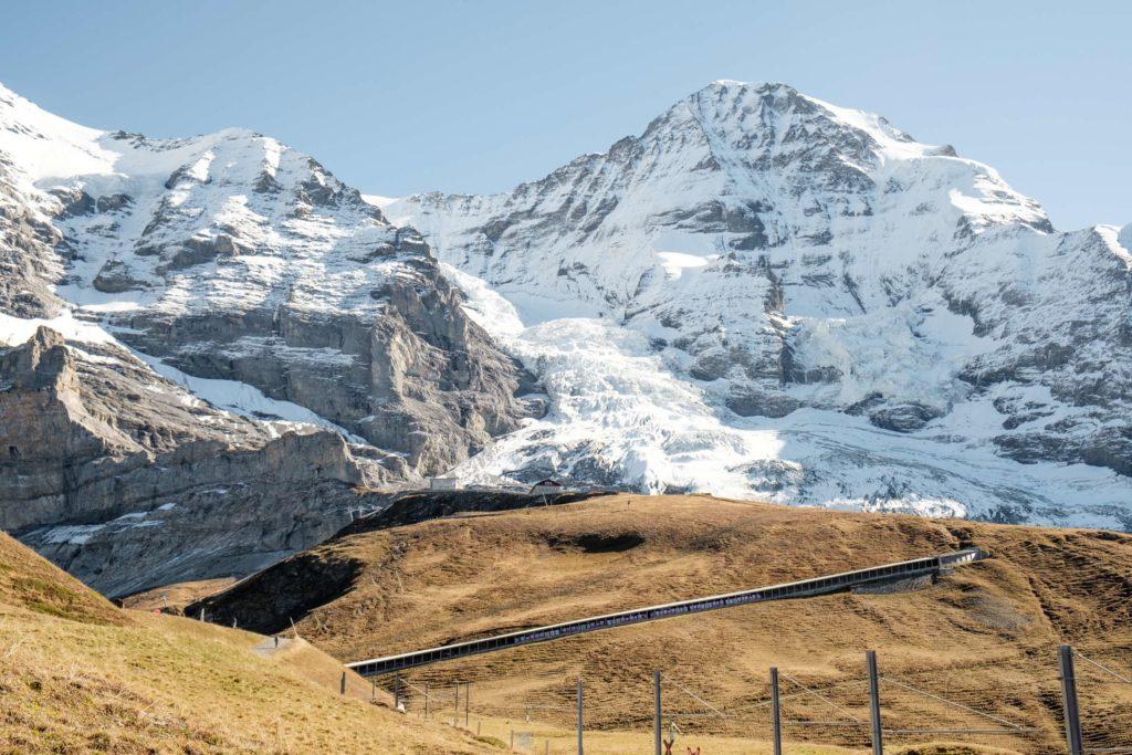 The Jungfrau train in a tunnel