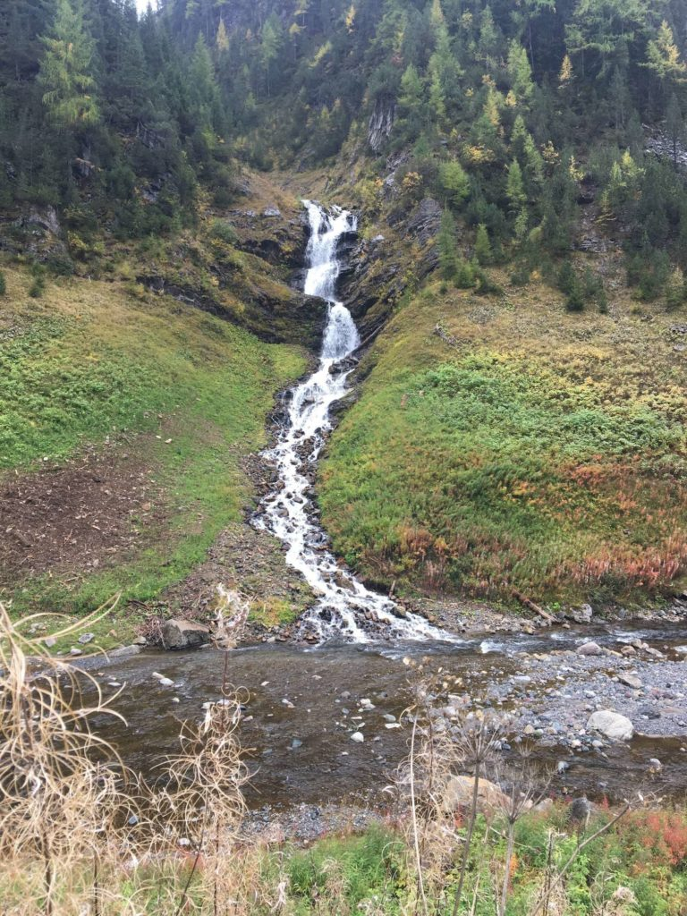A Waterfall on the Glacier Express hike