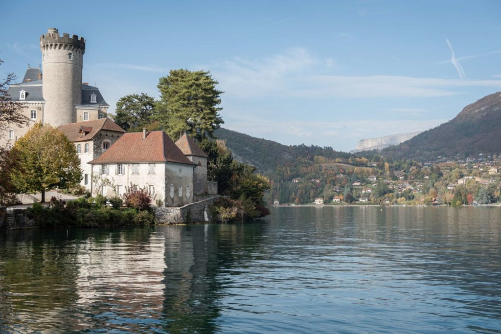 Duingt castle on lake Annecy