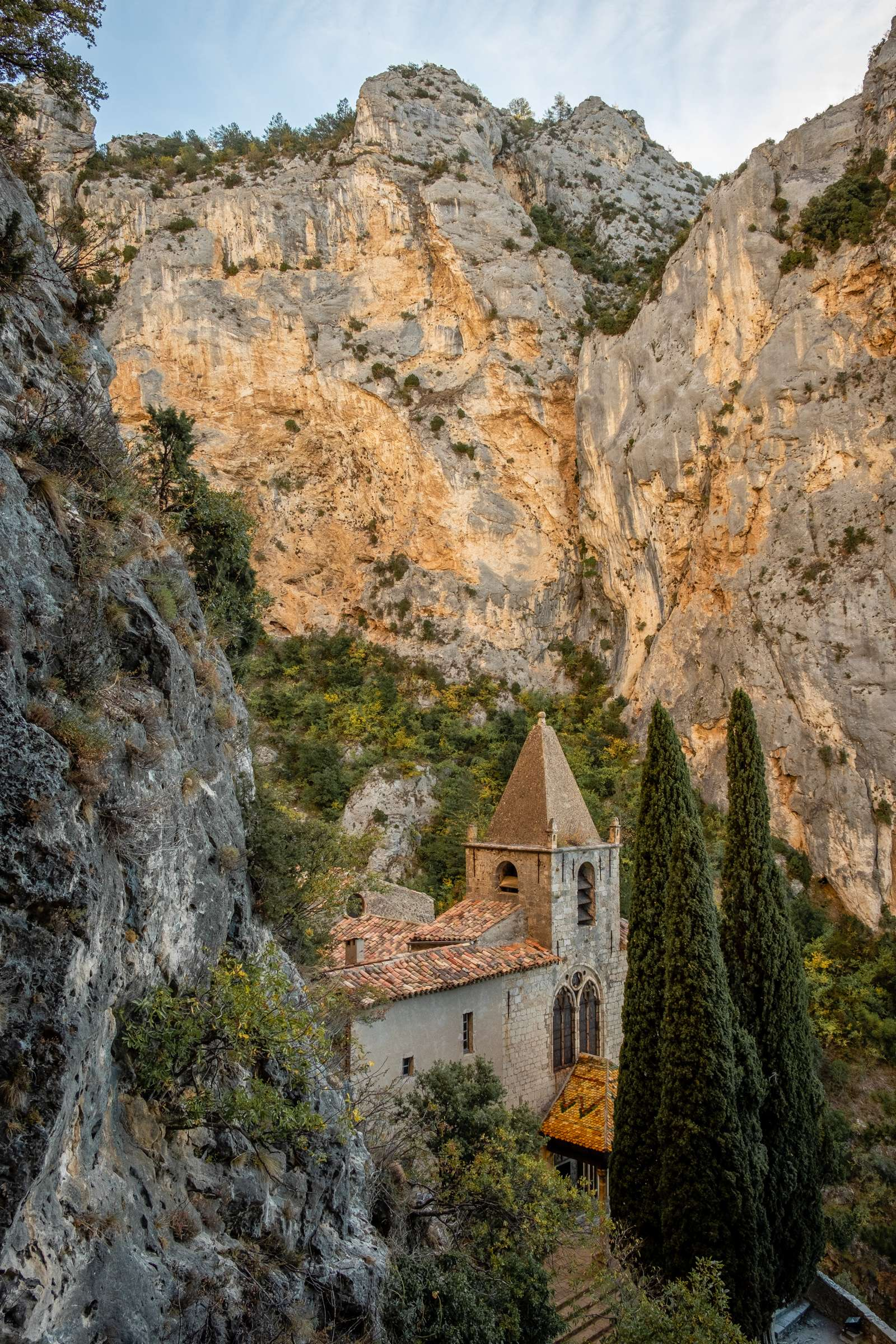 Notre-Dame de Beauvoir church nestled in gorge