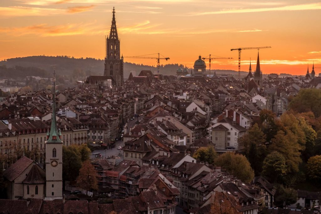 Sunset over Bern