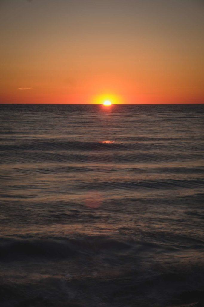 Camargue sea sunset