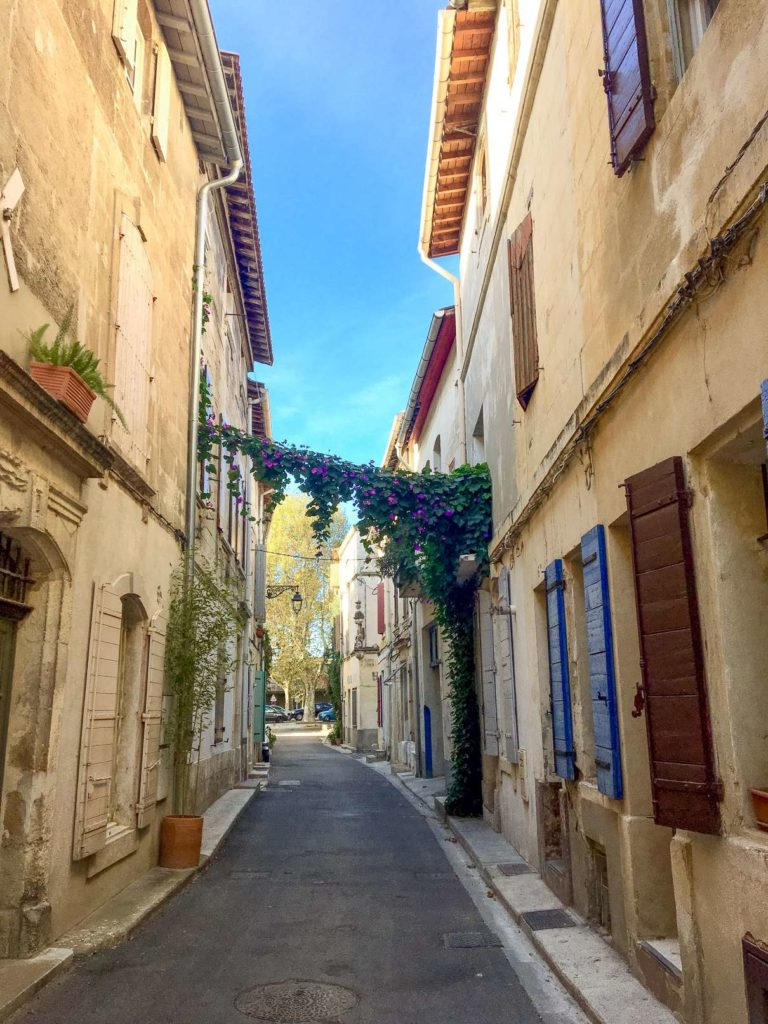 Colourful side street in Arles