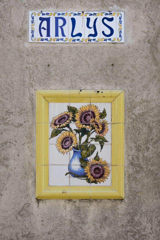 Van Gogh tiles on Arles street