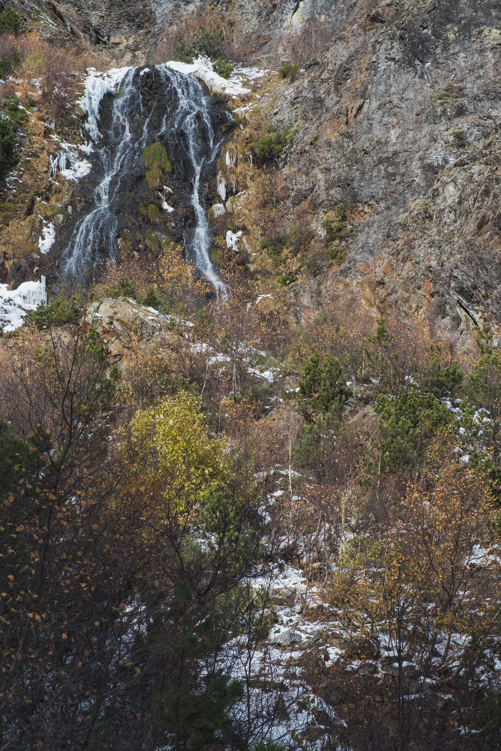 Waterfall in Aigüestortes i Estany of Saint Maurici national park