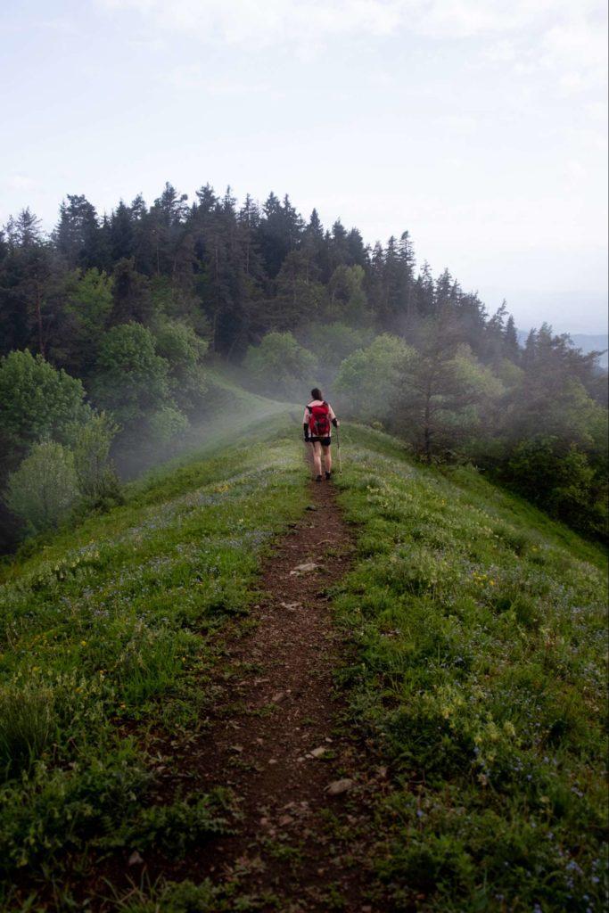 Caroline on footprint trail Borjomi National Park, Samtskhe-Javakheti