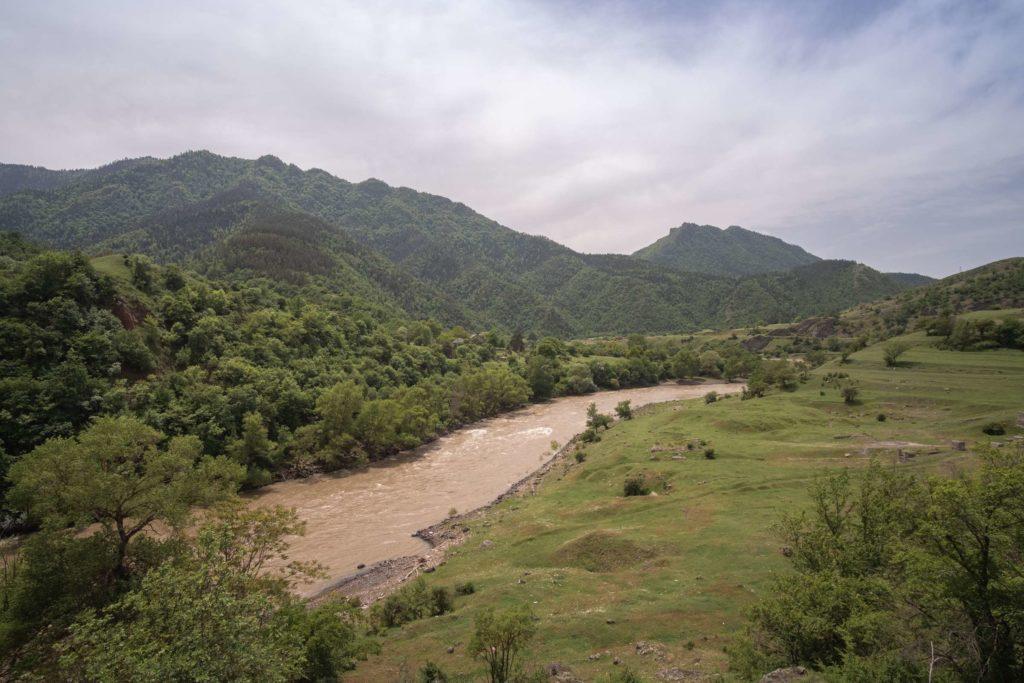 Mtkvari river in Samtskhe-Javakheti