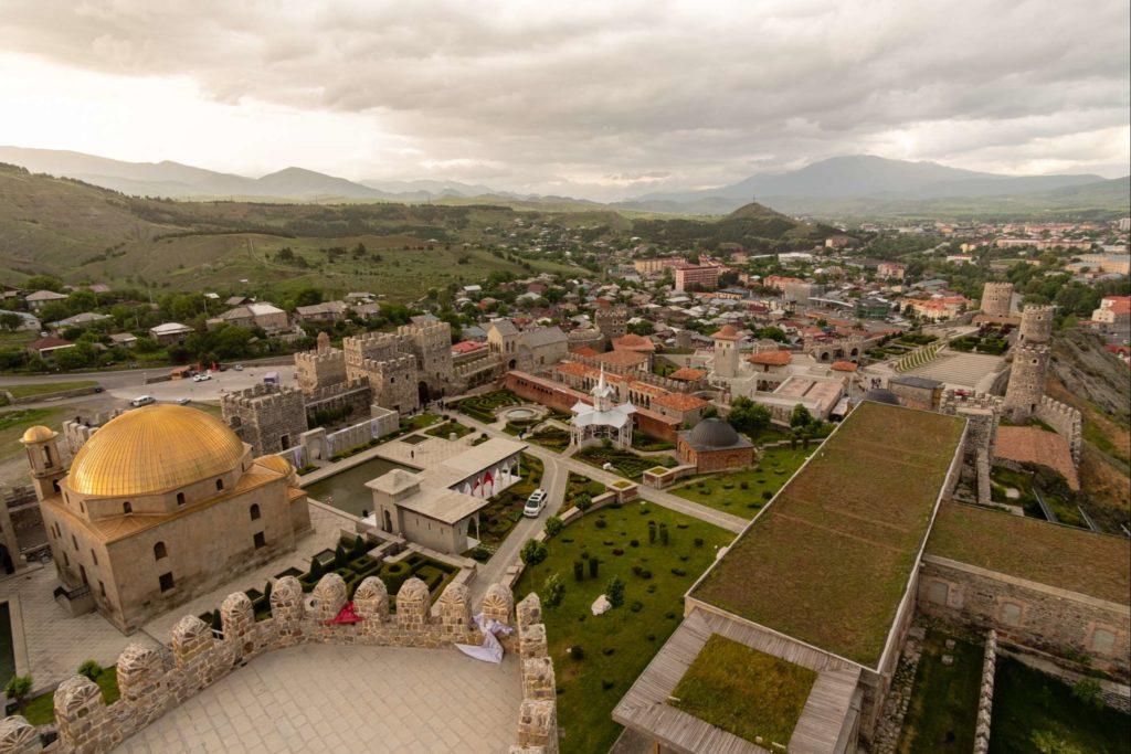 View on Rabati Castle from Jakeli castle