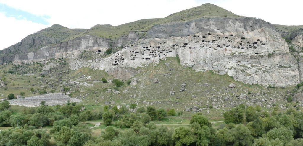 Full view on Vardzia cave monastery, Samtskhe-Javakheti