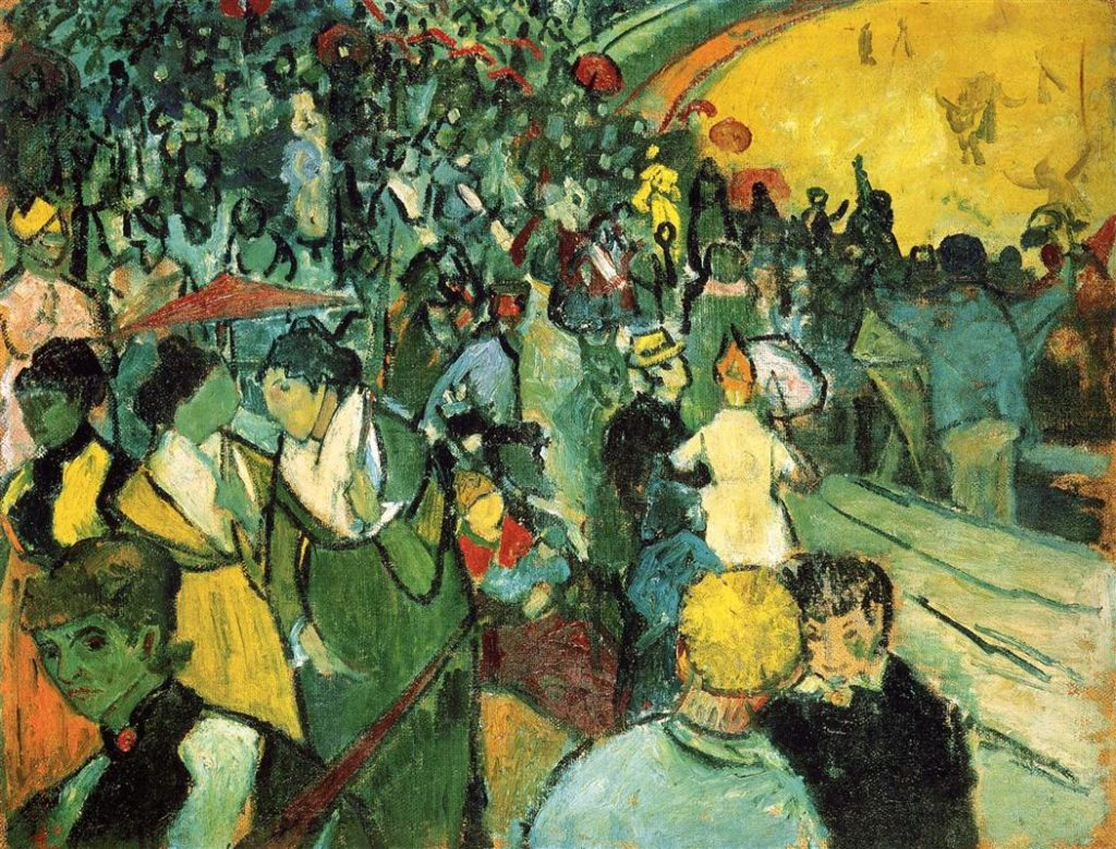 Vincent van Gogh - Spectators in the Arena at Arles