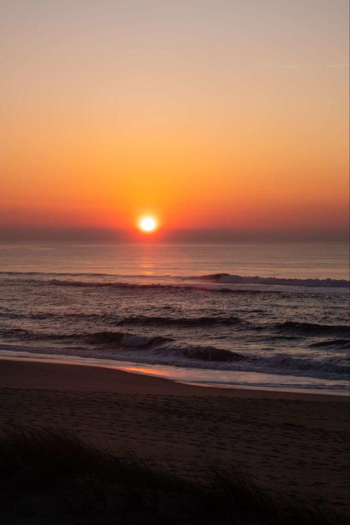 Aveiro beach sunset