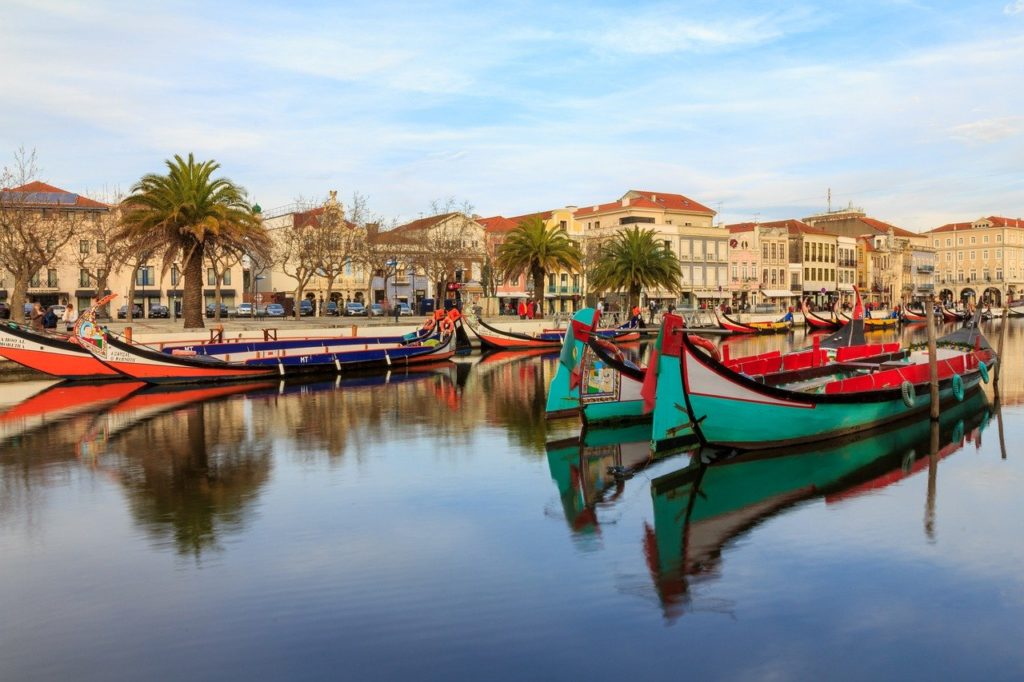 Aveiro Gondolas on the main canal