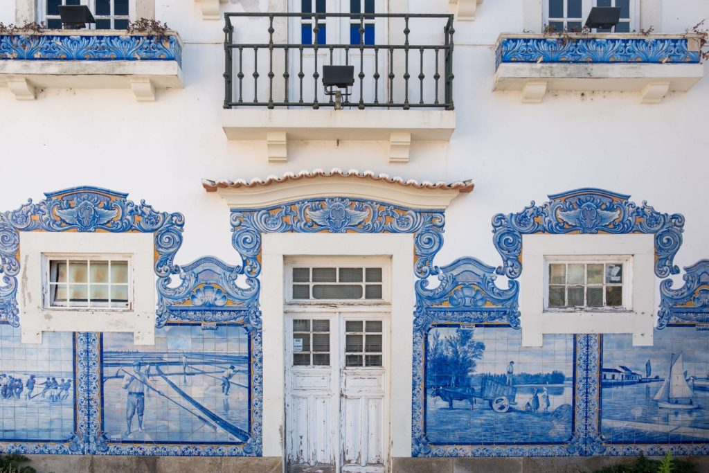 Aveiro train station adorned with beautiful azujelos