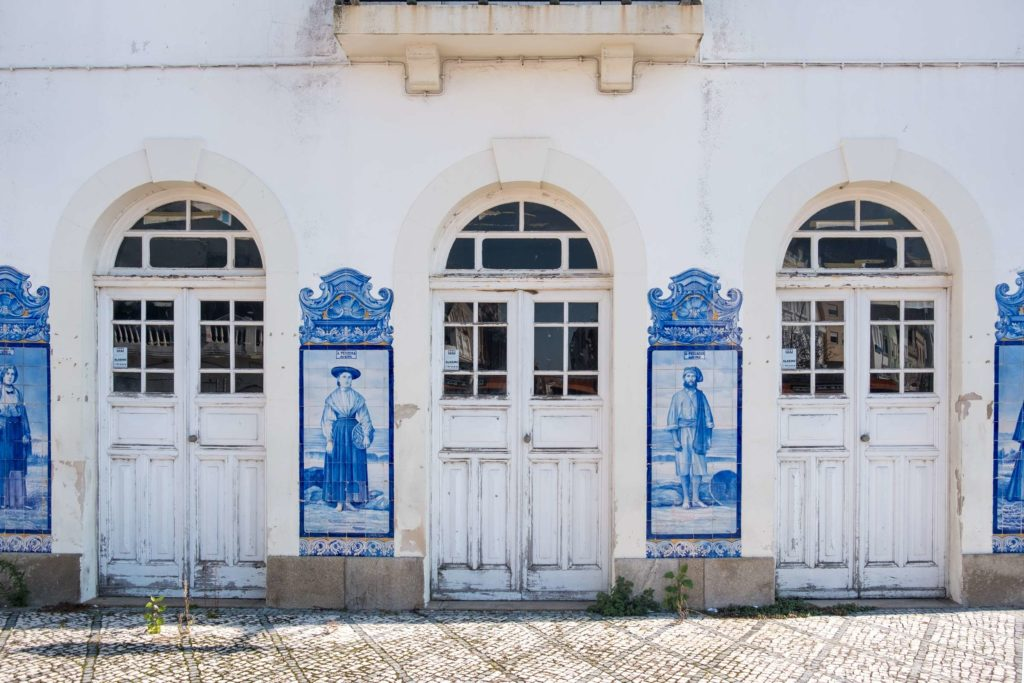 Aveiro train station with tiled portraits