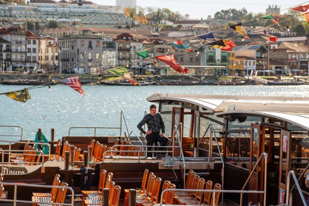 Captain on his boat at Porto Ribeira