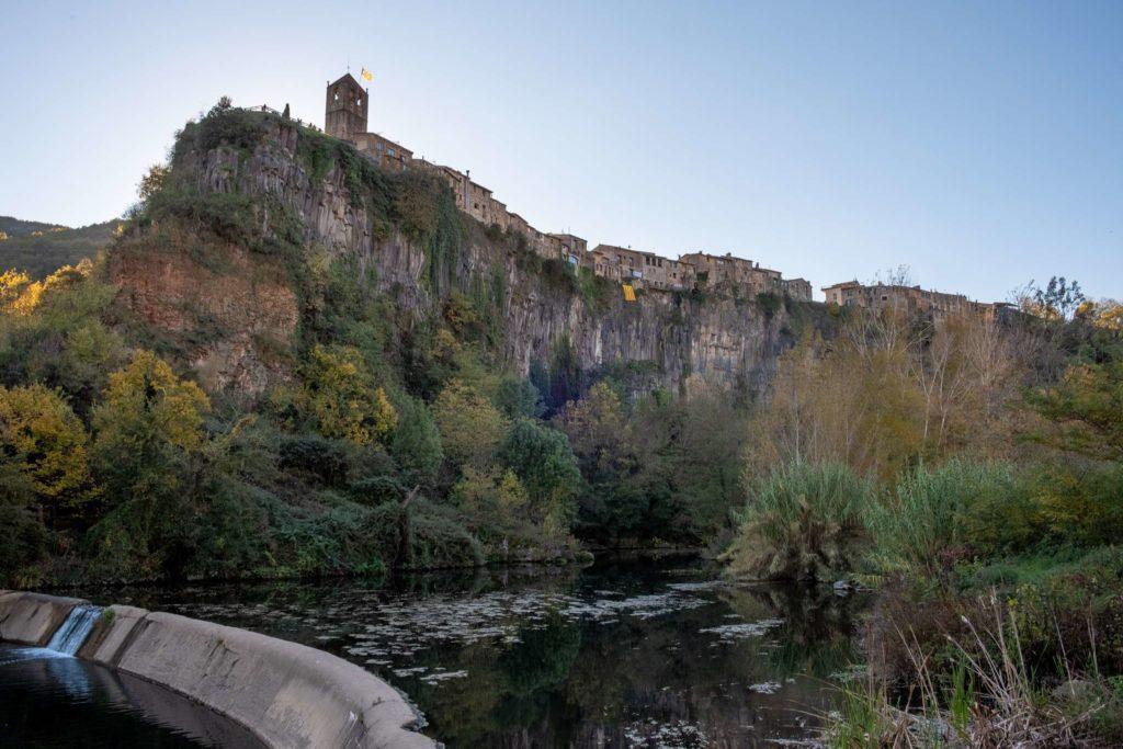 Castellfollit de la roca, Catalonia above the river