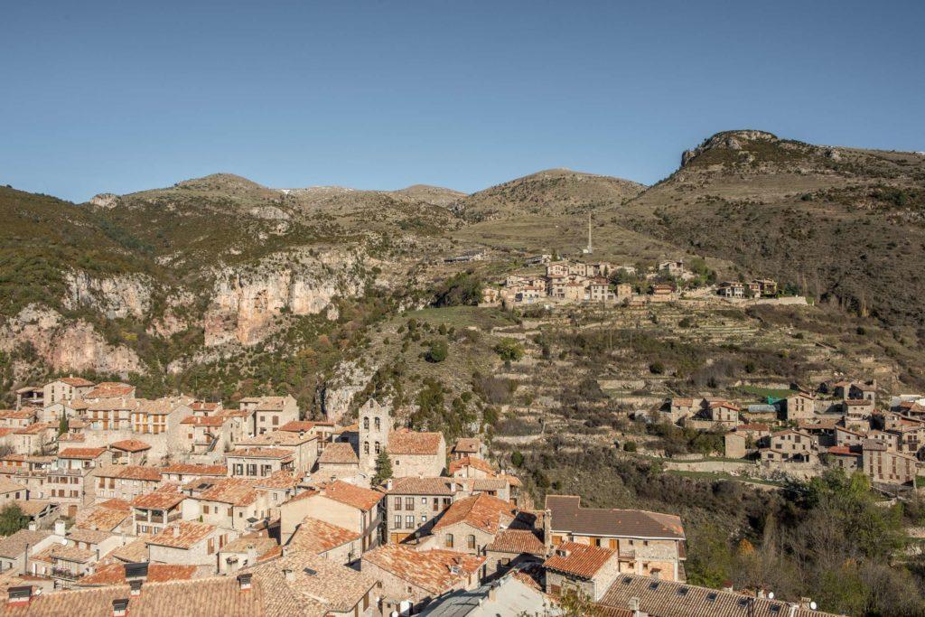 Closeup view over Castellar de n'Hug