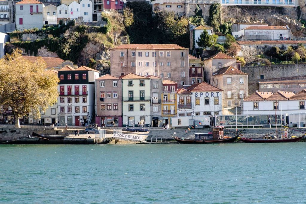 Cute houses on the other side of the river at Porto Ribeira
