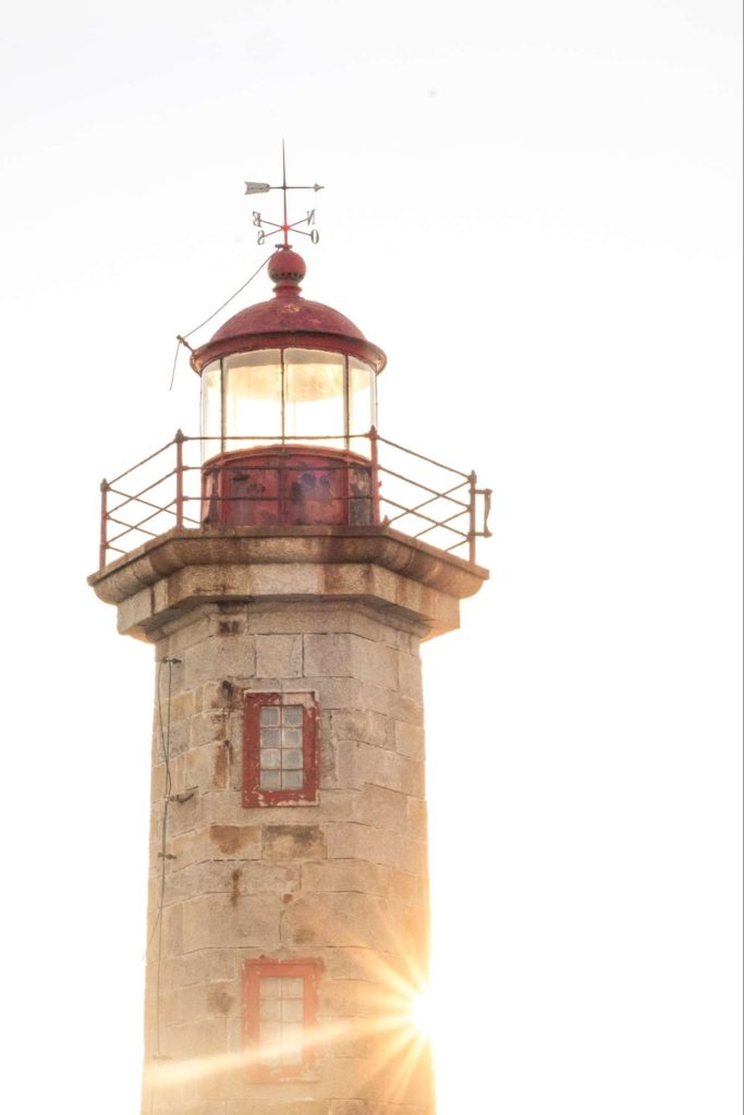 Porto lighthouse with afternoon sun