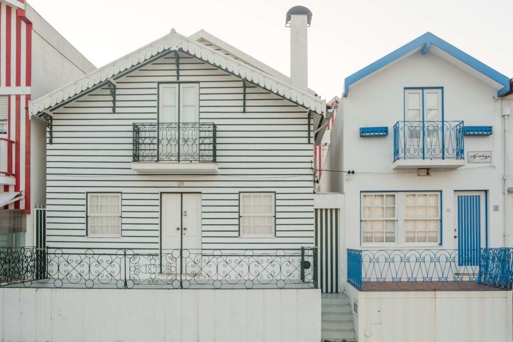Pretty houses in Costa Nova