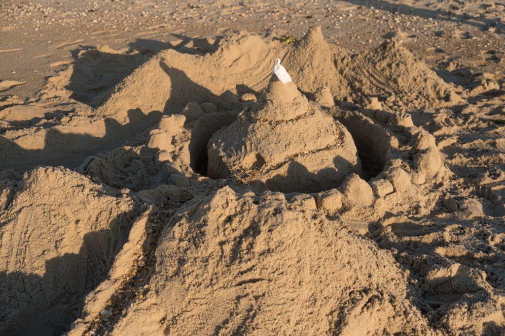 Sandcastle on Praia da Costa Nova