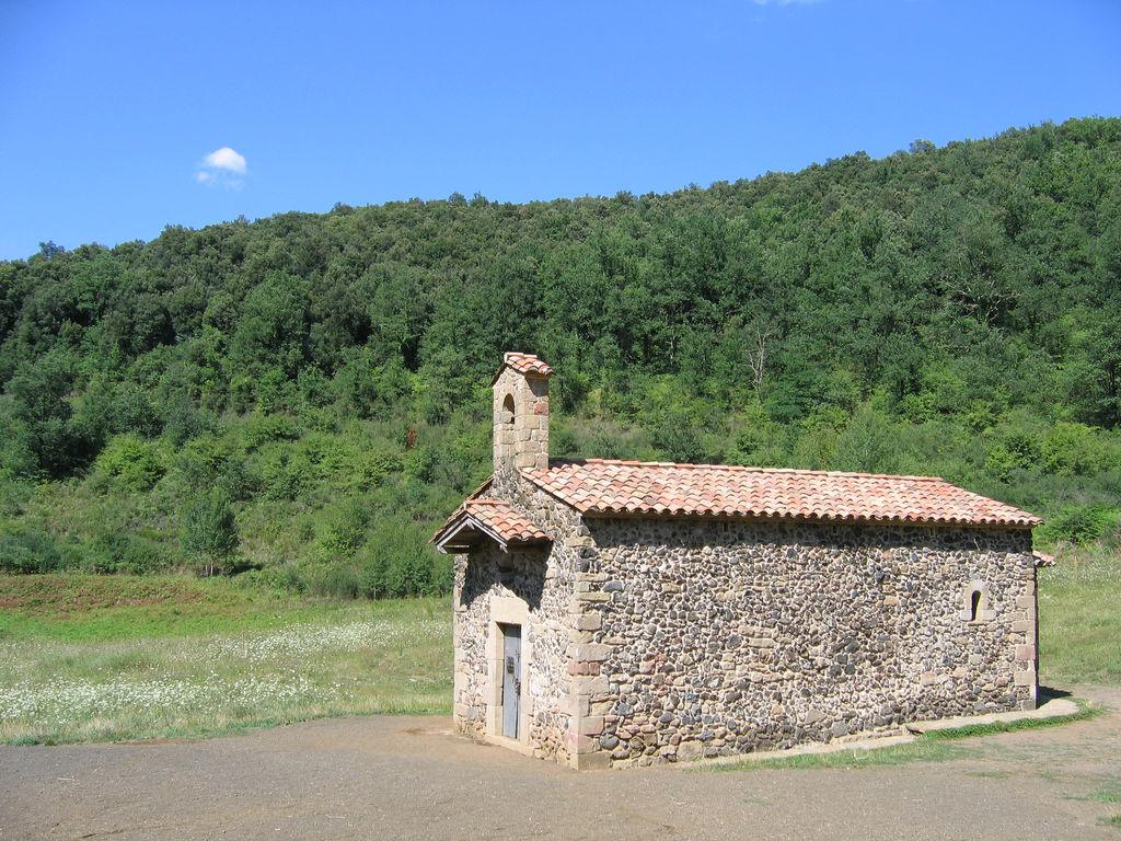 Santa Margarida chapel in volcano crater