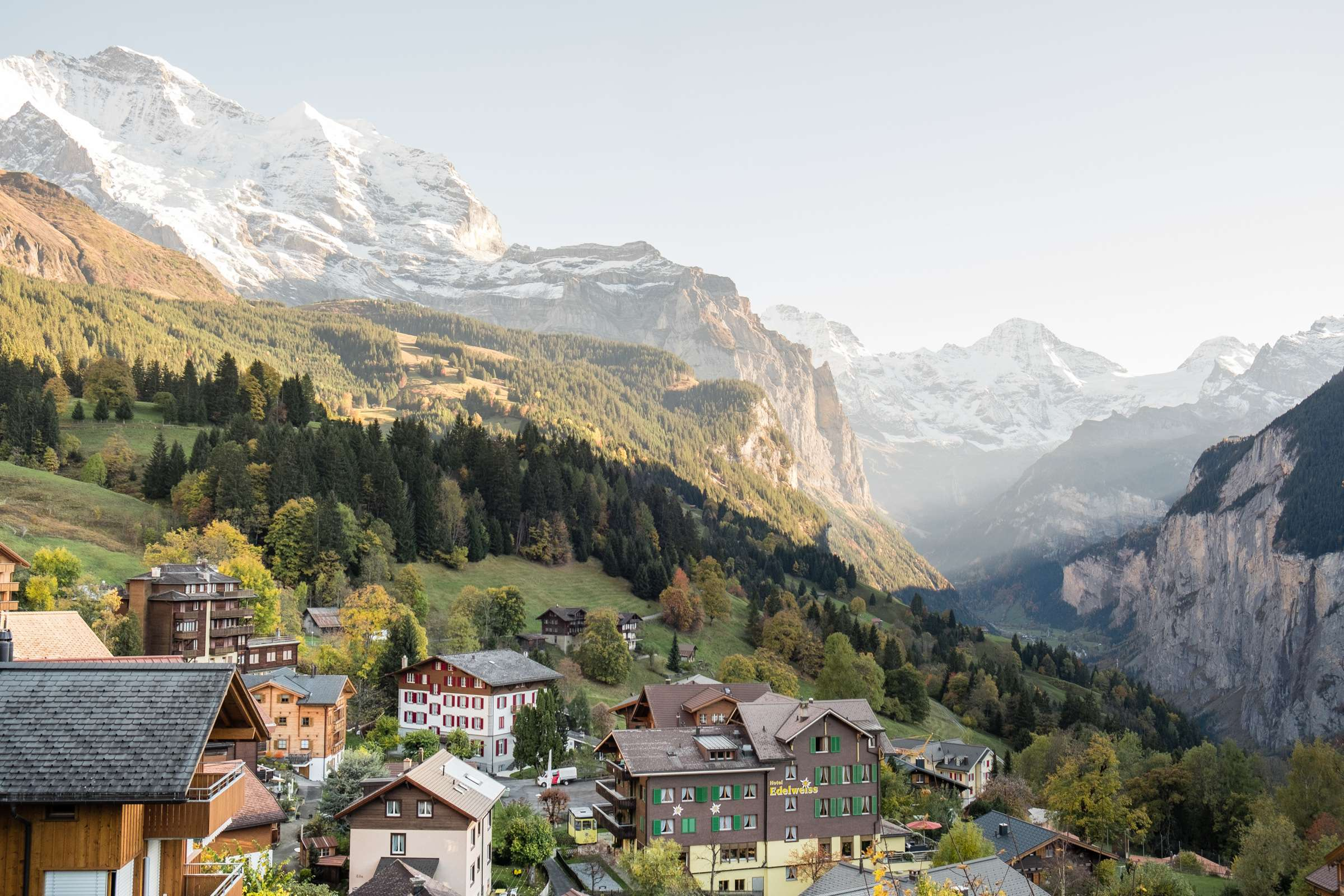 Sunset over Wengen