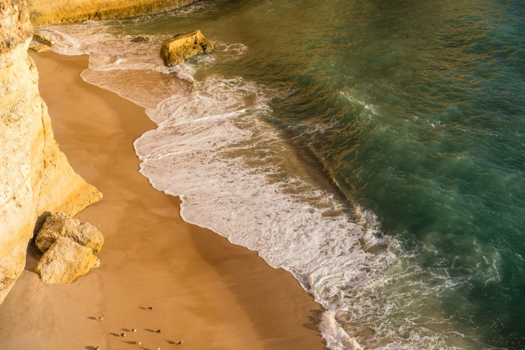 Afternoon light at Praia da Corredoura from above