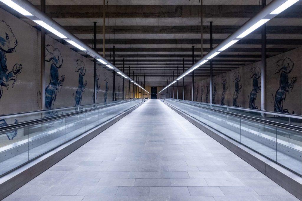 Empty metro station in Lisbon