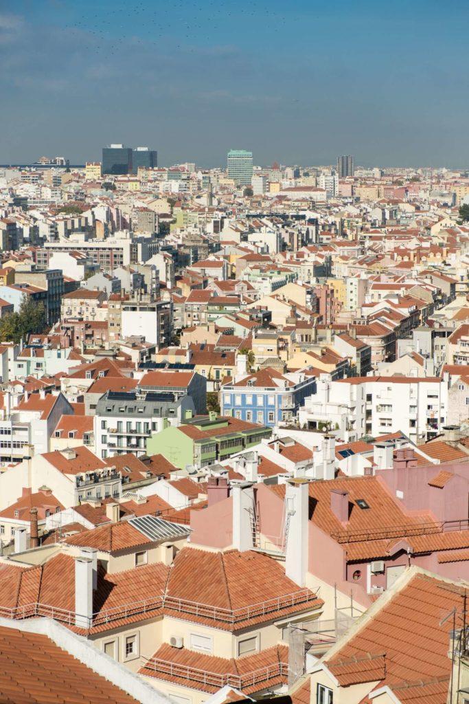 Terracotta roofs of Lisbon