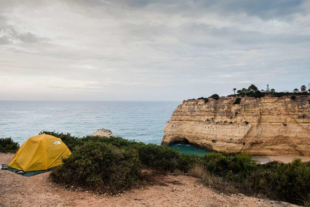 Wild camping spot above Carvalho Beach