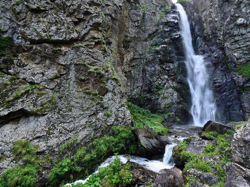 Big Gveleti waterfall in Kazbegi