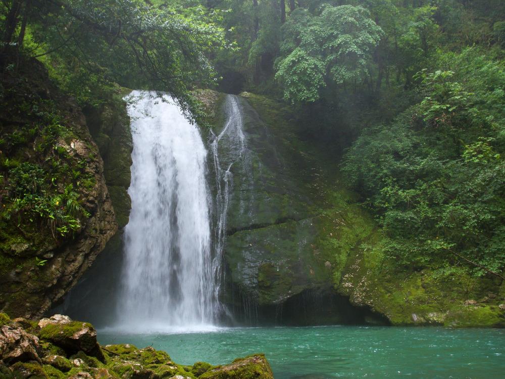 Intsira waterfall in Svaneti