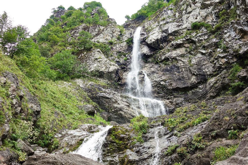 Khadori Waterfall in Pankisi Gorge
