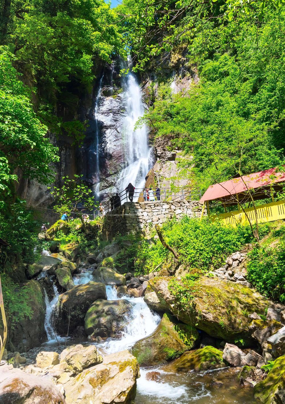 Makhuntseti waterfall in Adjara