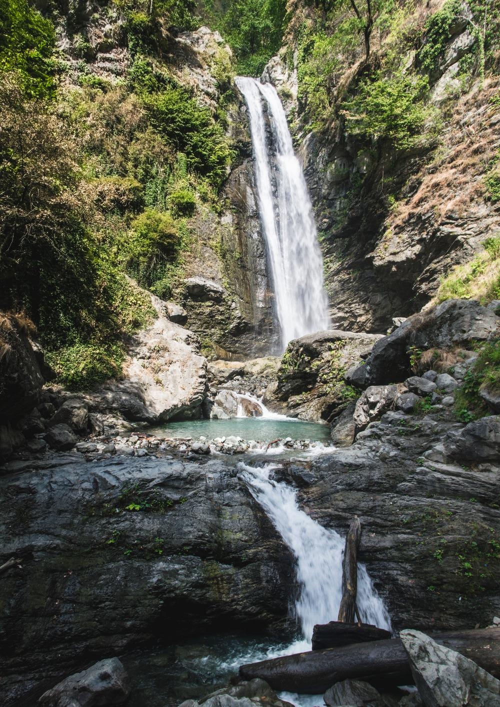 Ninoskhevi waterfall in Lagodekhi