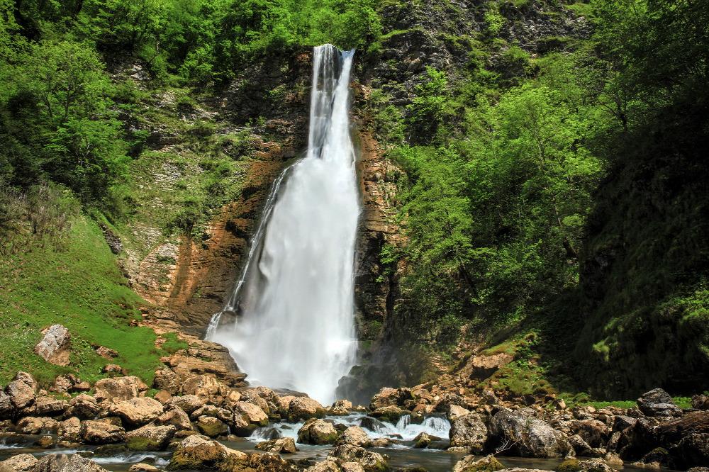 Oniore waterfall in Samegrelo, Georgia