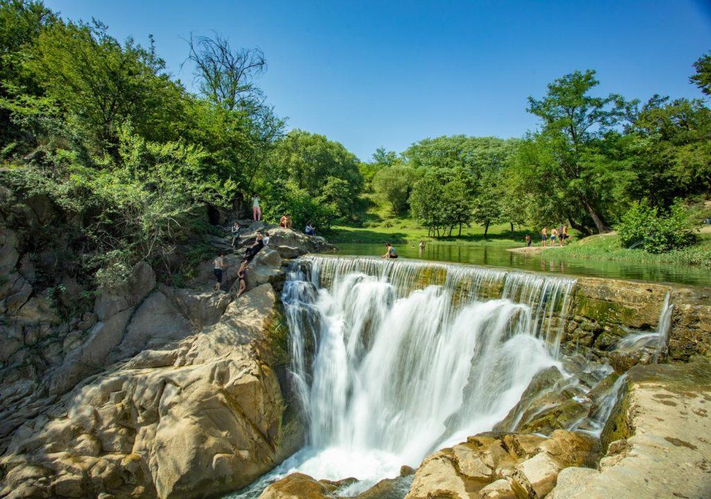 Samcvera waterfall, Imereti, Georgia
